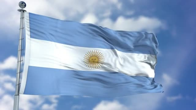 Argentina Flag Animation: Stock Motion Graphics
