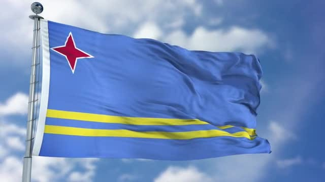 Aruba Flag Animation: Stock Motion Graphics