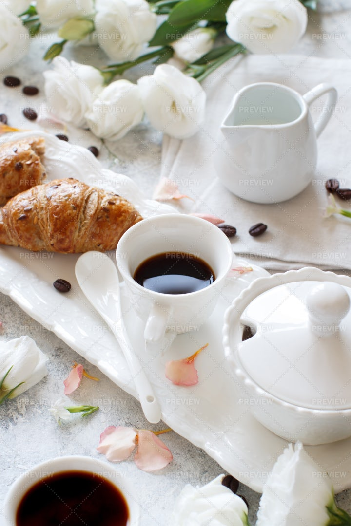 Romantic Breakfast Tray: Stock Photos