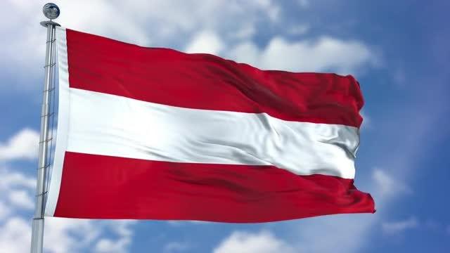Austria Flag Animation: Stock Motion Graphics