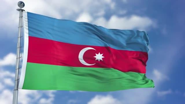 Azerbaijan Flag Animation: Stock Motion Graphics