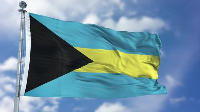 Bahamas Flag Animation: Stock Motion Graphics