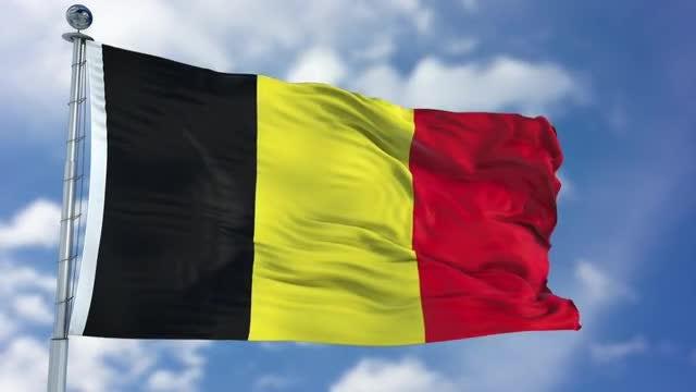 Belgium Flag Animation: Stock Motion Graphics