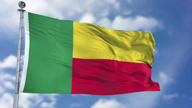 Benin Flag Animation: Stock Motion Graphics