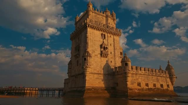 Torre De Belem Tower: Stock Video