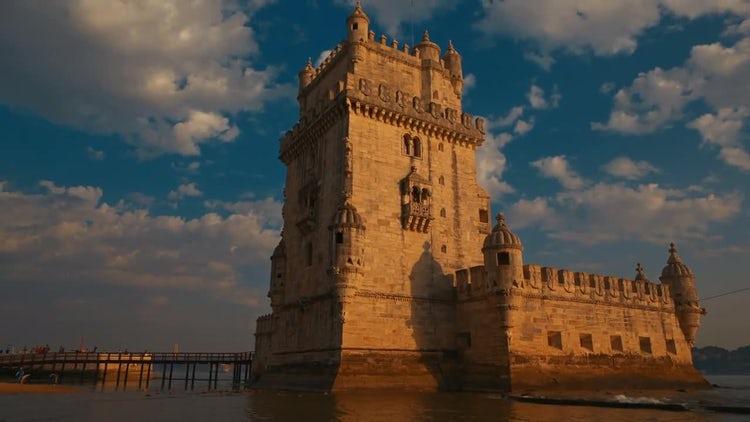 Torre De Belem Tower: Stock Video