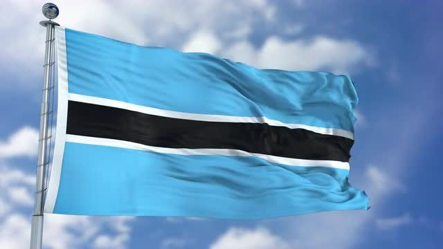 Botswana Flag Animation: Stock Motion Graphics