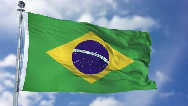 Brazil Flag Animation: Stock Motion Graphics