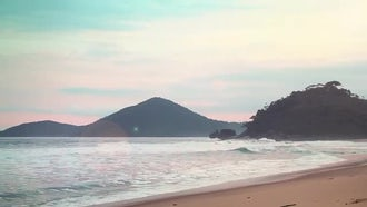 Beautiful Panorama Of Quiet Beach: Stock Video