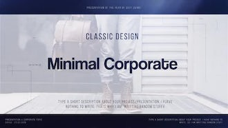 Minimal Corporate: Premiere Pro Templates