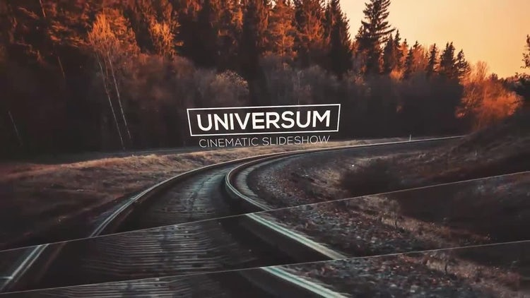 Universum - Elegant Cinematic Slideshow with Free Music Track: After Effects Templates