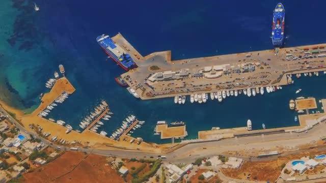 Greek Island of Mykonos : Stock Video
