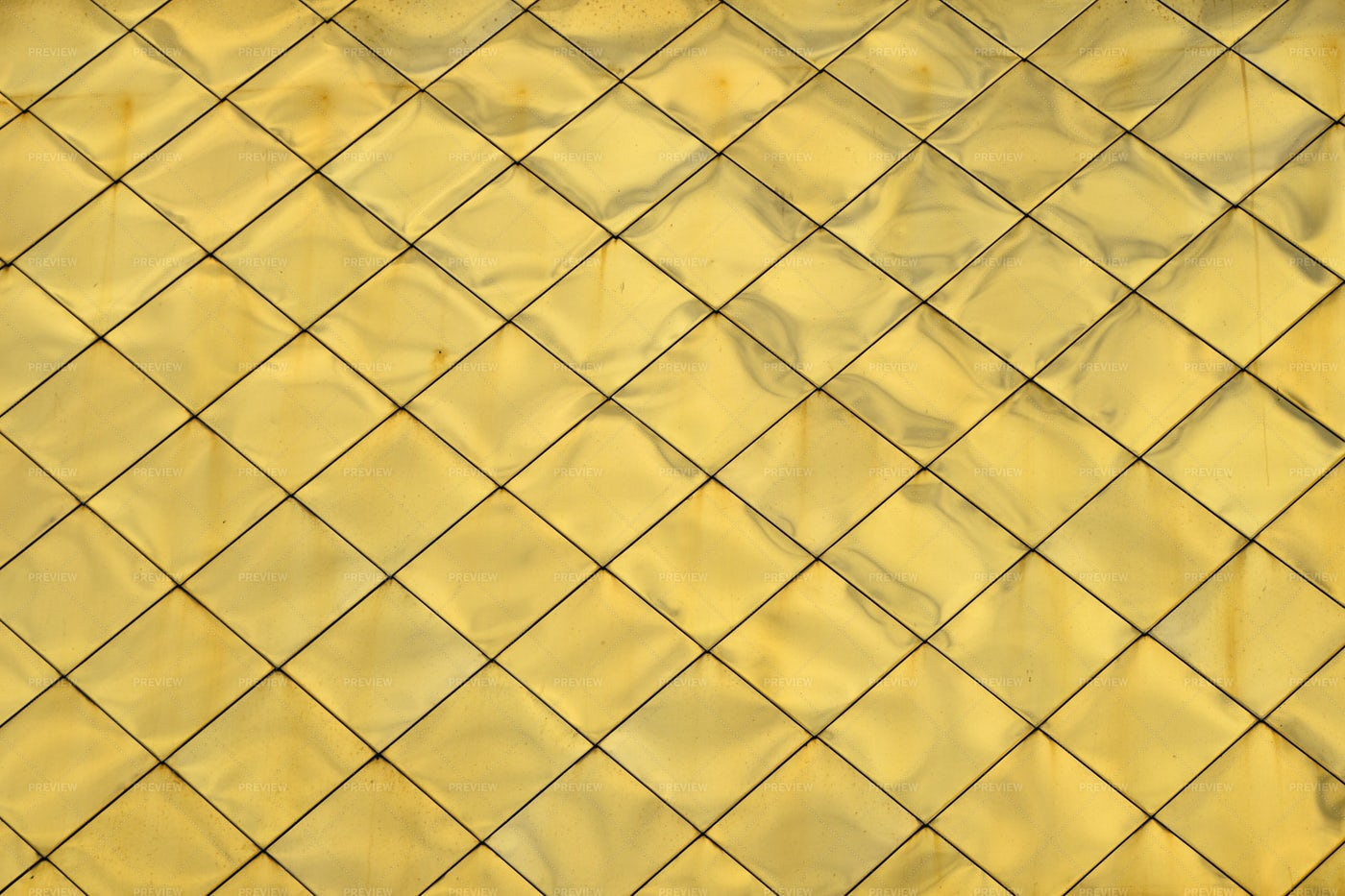Golden Metal Roof Tiles: Stock Photos