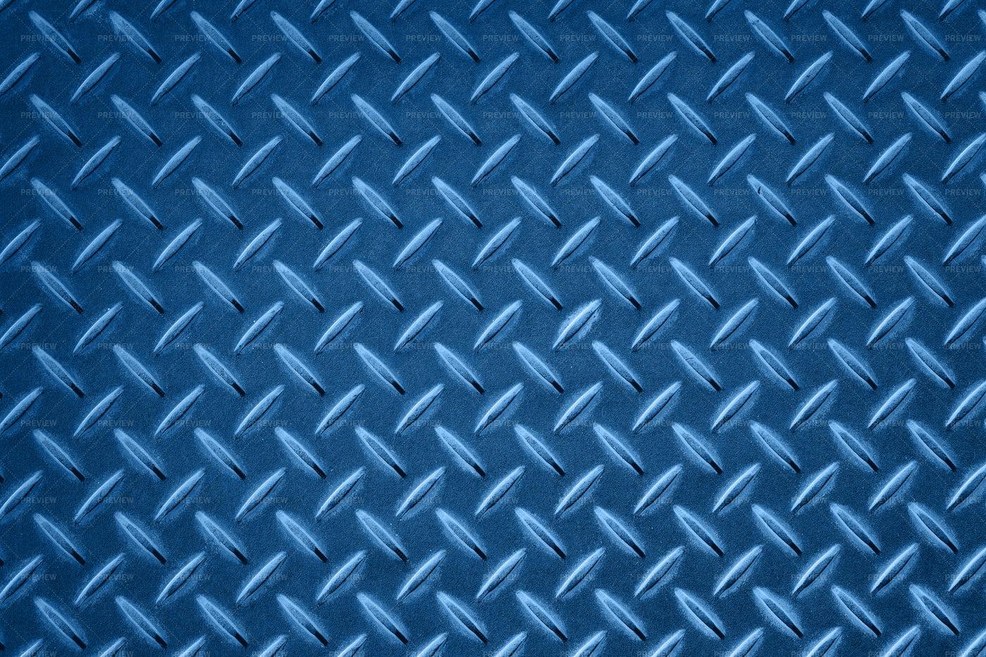 Blue Anti Slip Metal: Stock Photos
