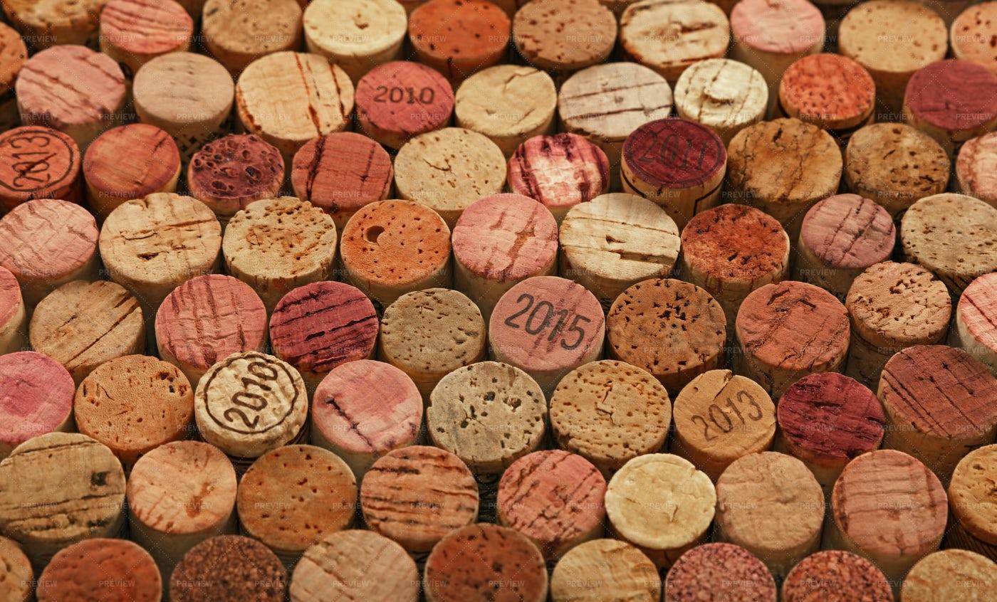 Used Wine Corks: Stock Photos