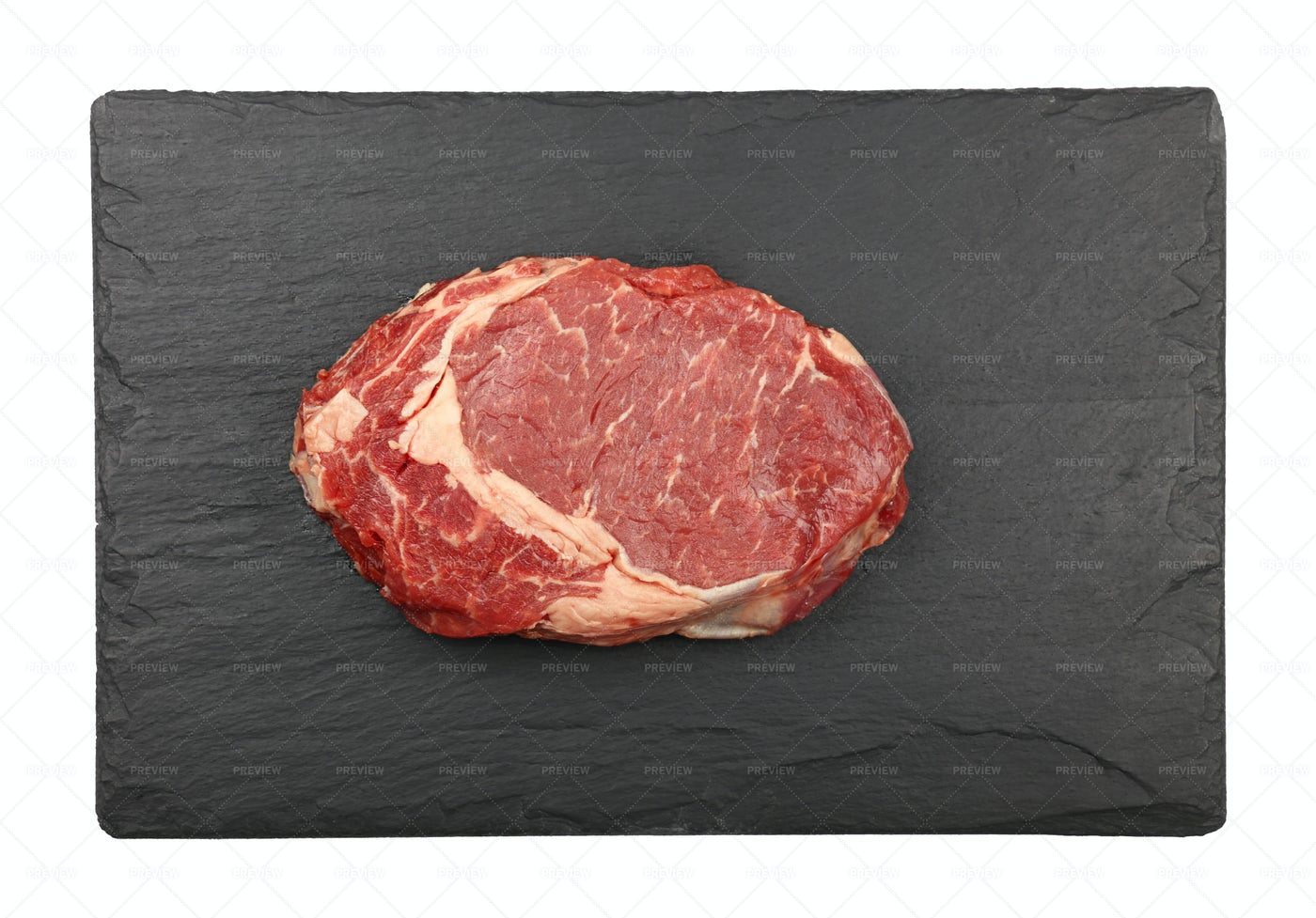 Raw Rib Eye Steak: Stock Photos
