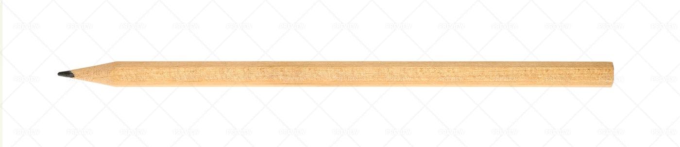 One Wooden Pencil: Stock Photos