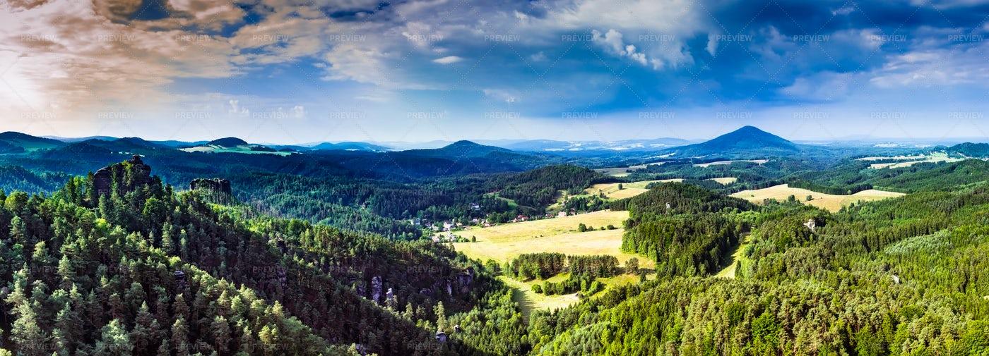 Landscape Of Czech Republic: Stock Photos