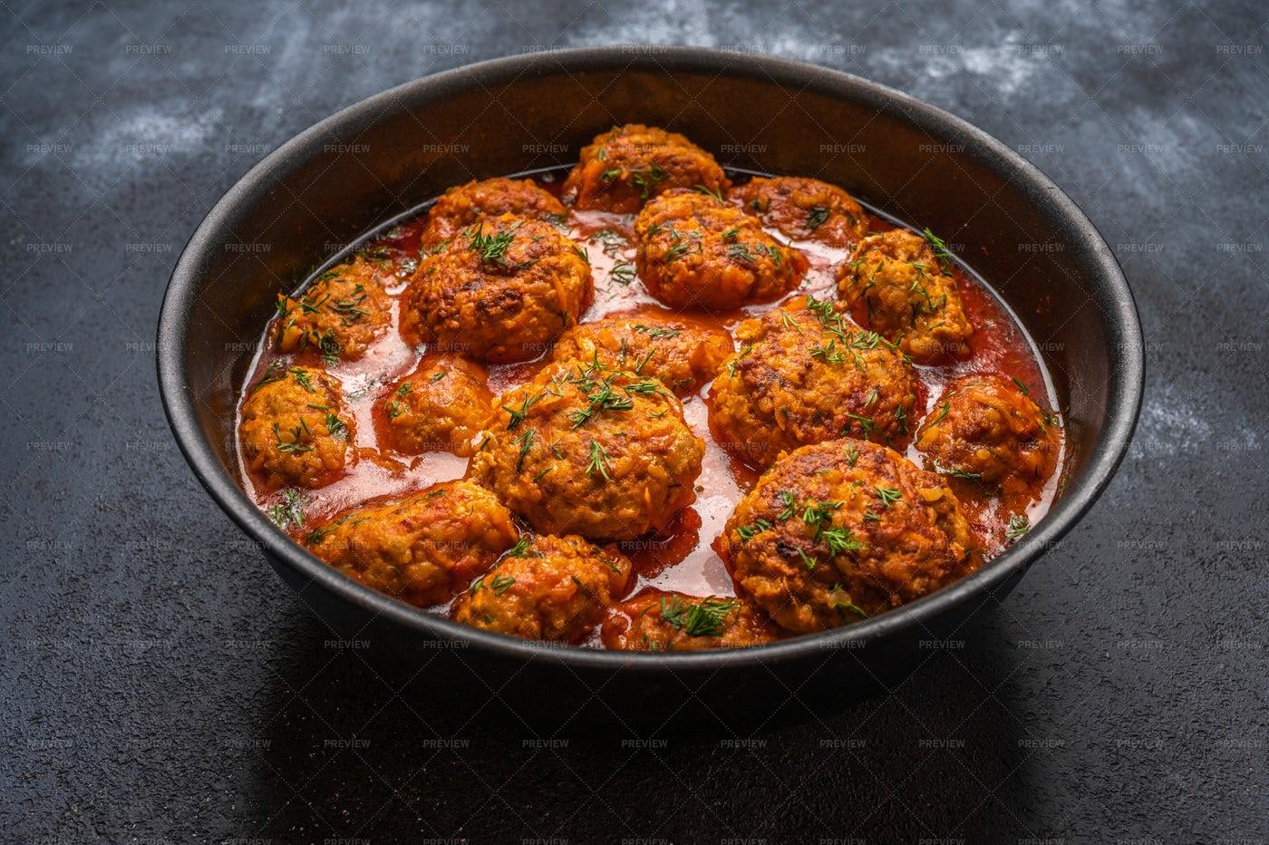 Tasty Meatballs: Stock Photos