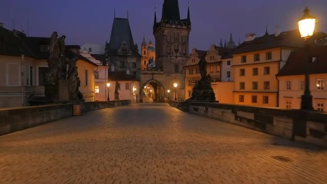 POV Of Charles Bridge : Stock Video