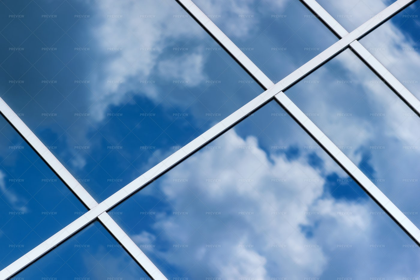 Glass Panels In The Sky: Stock Photos