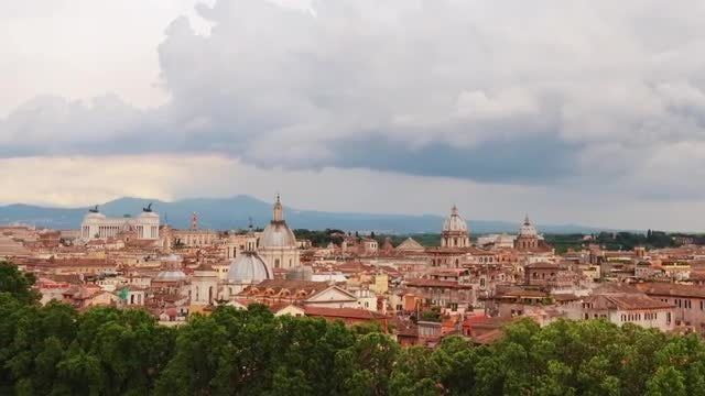 Rome Italy Cityscape Time Lapse: Stock Video