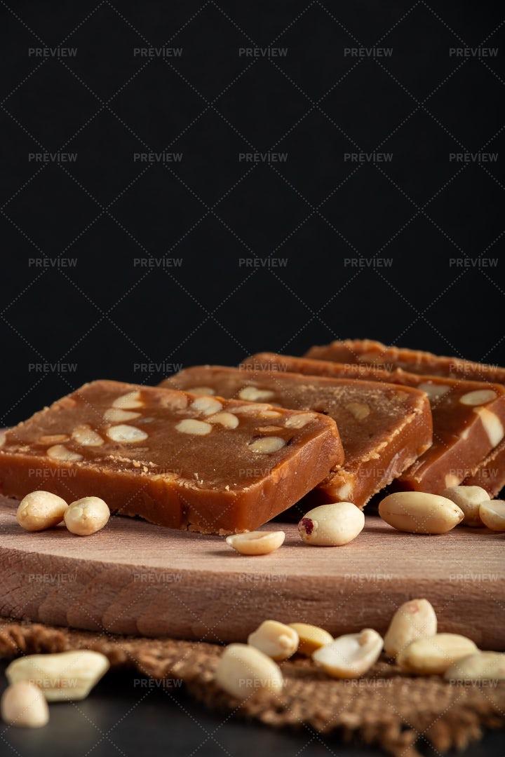 Peanut Home Toffee: Stock Photos