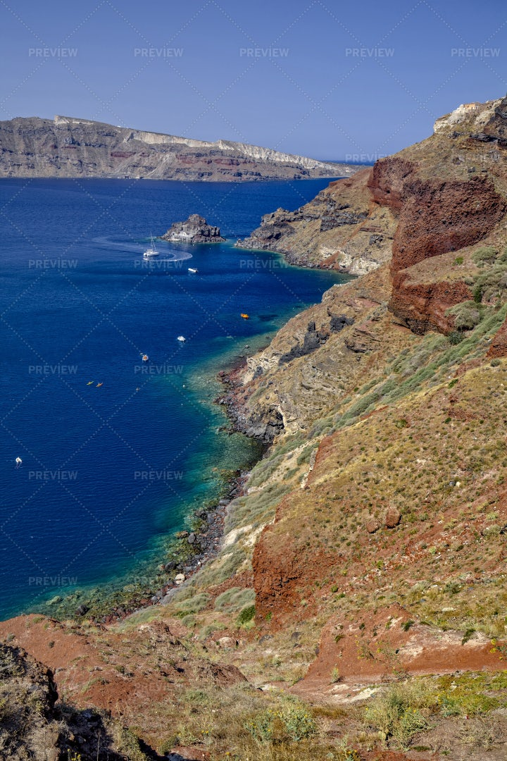 Coast Of Oia, Santorini: Stock Photos