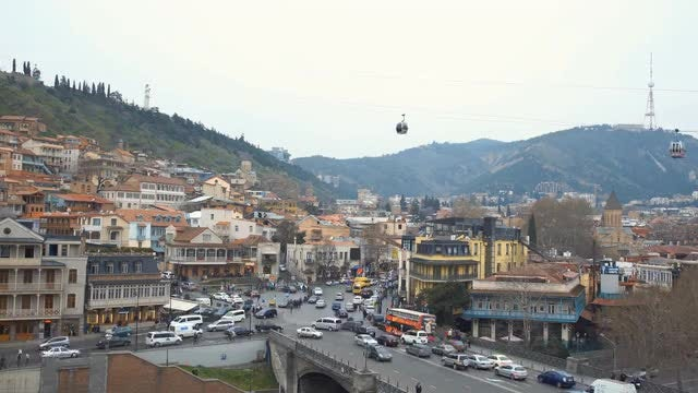 Tbilisi City Time-Lapse: Stock Video
