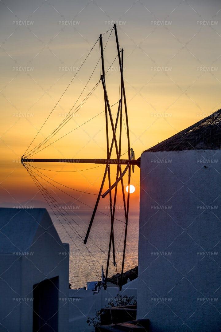 Antenna In Oia Santorini: Stock Photos