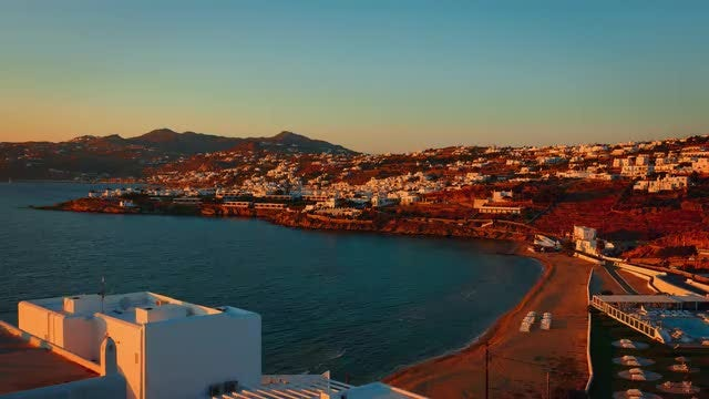 The Greek Island Of Mykonos: Stock Video