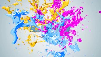 Paint Splash Logo: After Effects Templates