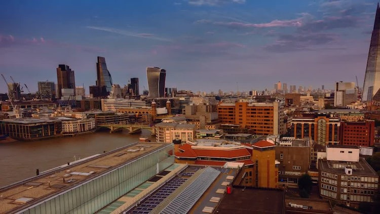 Time-Lapse View of Central London: Stock Video