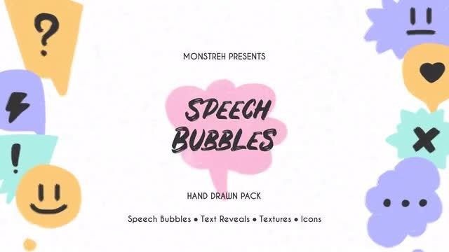 Speech Bubbles - Hand Drawn Pack: After Effects Templates
