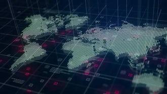 Digital World Map Hologram: Motion Graphics