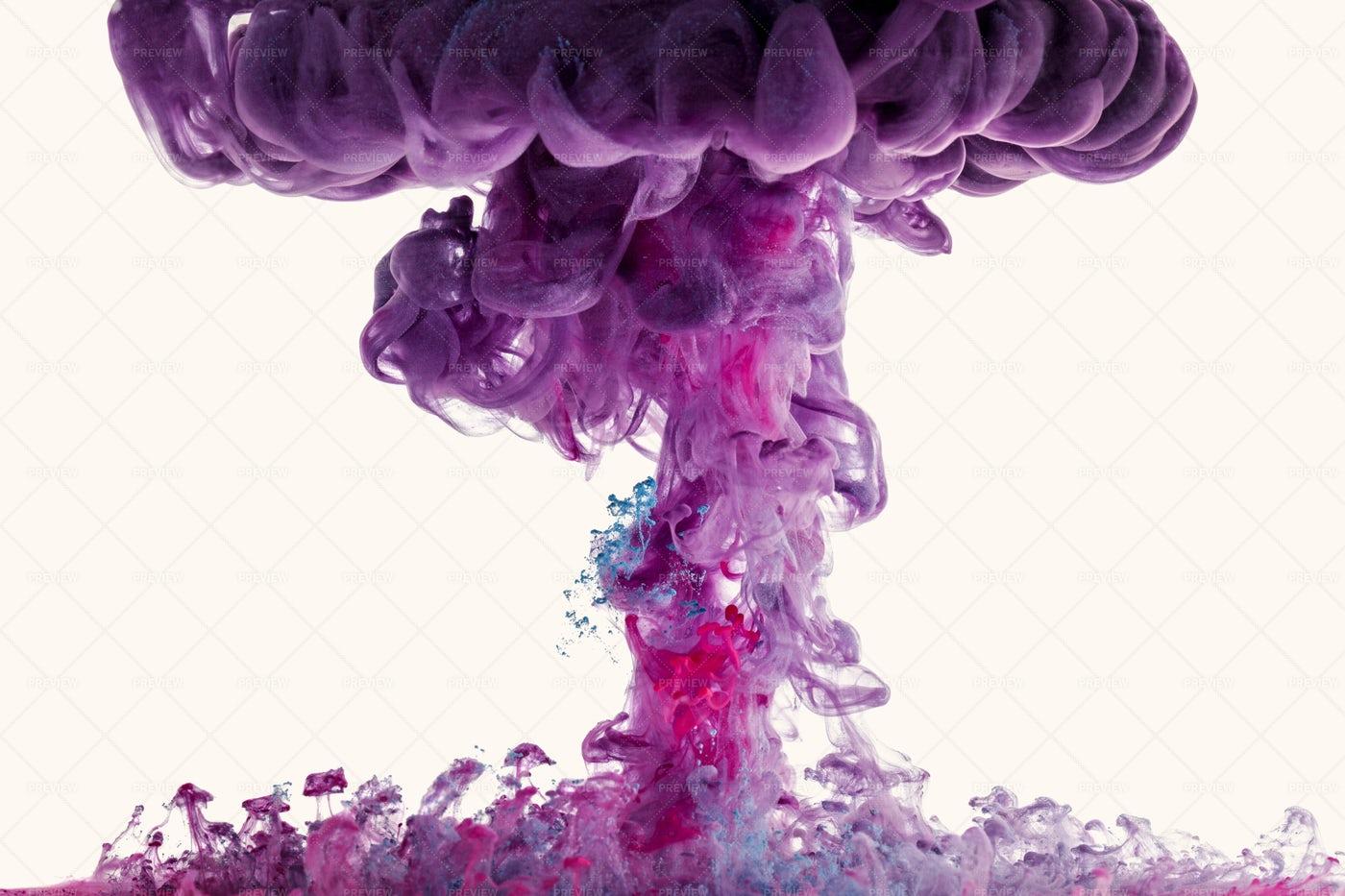 Colorful Mushroom Cloud: Stock Photos