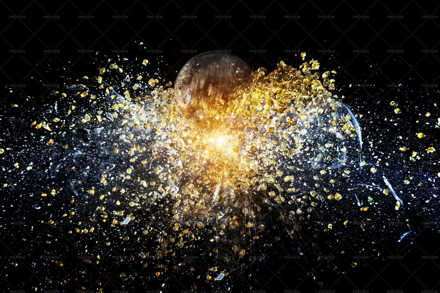 Explosion Of Ball: Stock Photos