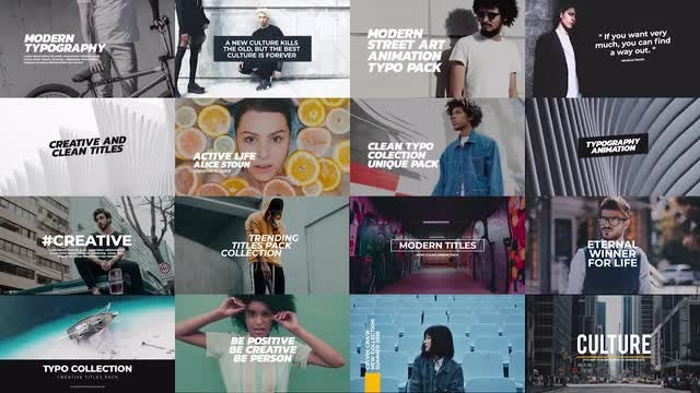 Trendy Titles Pack: Premiere Pro Templates