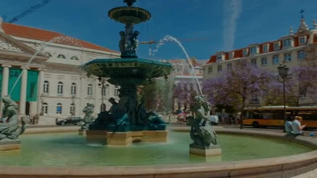 Rossio Square, Lisbon, Portugal: Stock Video