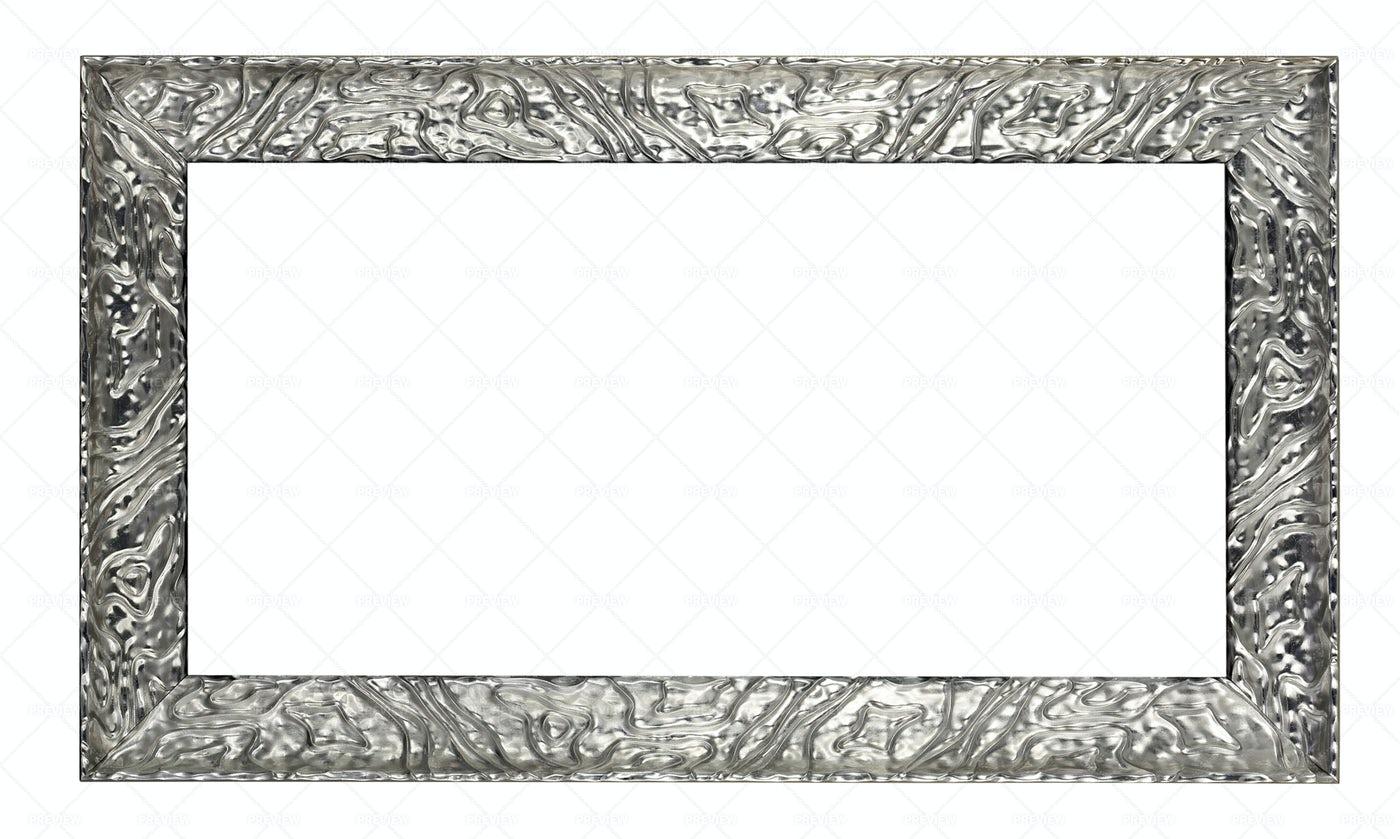 Rectangular Silver Frame: Stock Photos