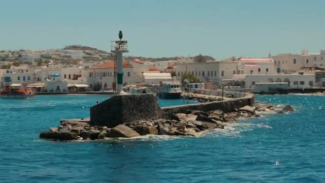 Old Port Of Mykonos : Stock Video