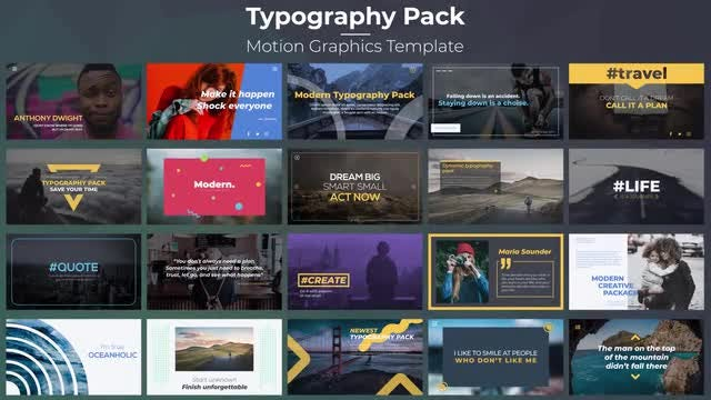 Typography Pack: Motion Graphics Templates