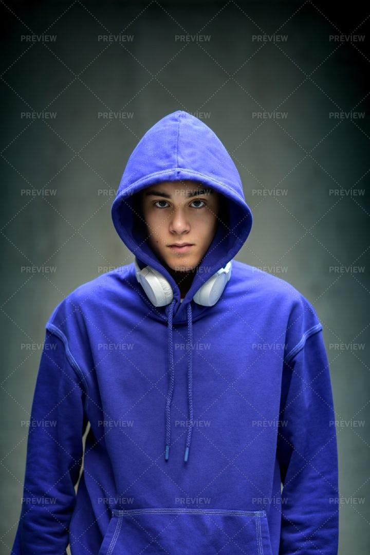 Moody Teenage Boy: Stock Photos