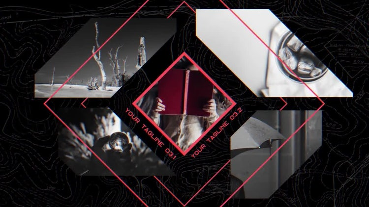 Minimal Frames Slideshow: After Effects Templates
