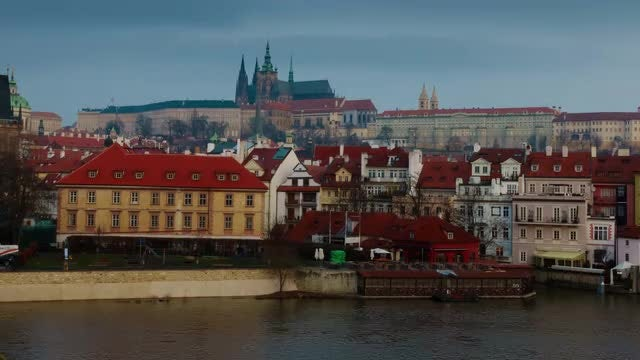 Sunrise Time Lapse Of Prague: Stock Video