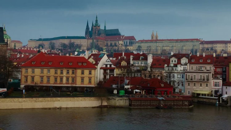 Sunrise Time Lapse Of Prague: Stock Video