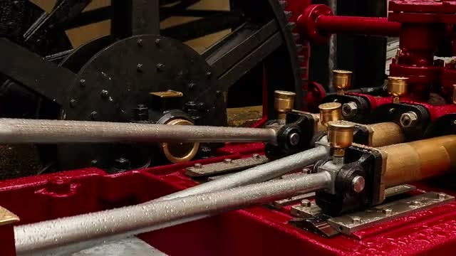 Old Hydraulic Engine : Stock Video