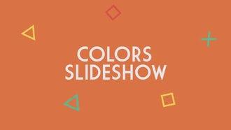 Colors Slideshow: Premiere Pro Templates