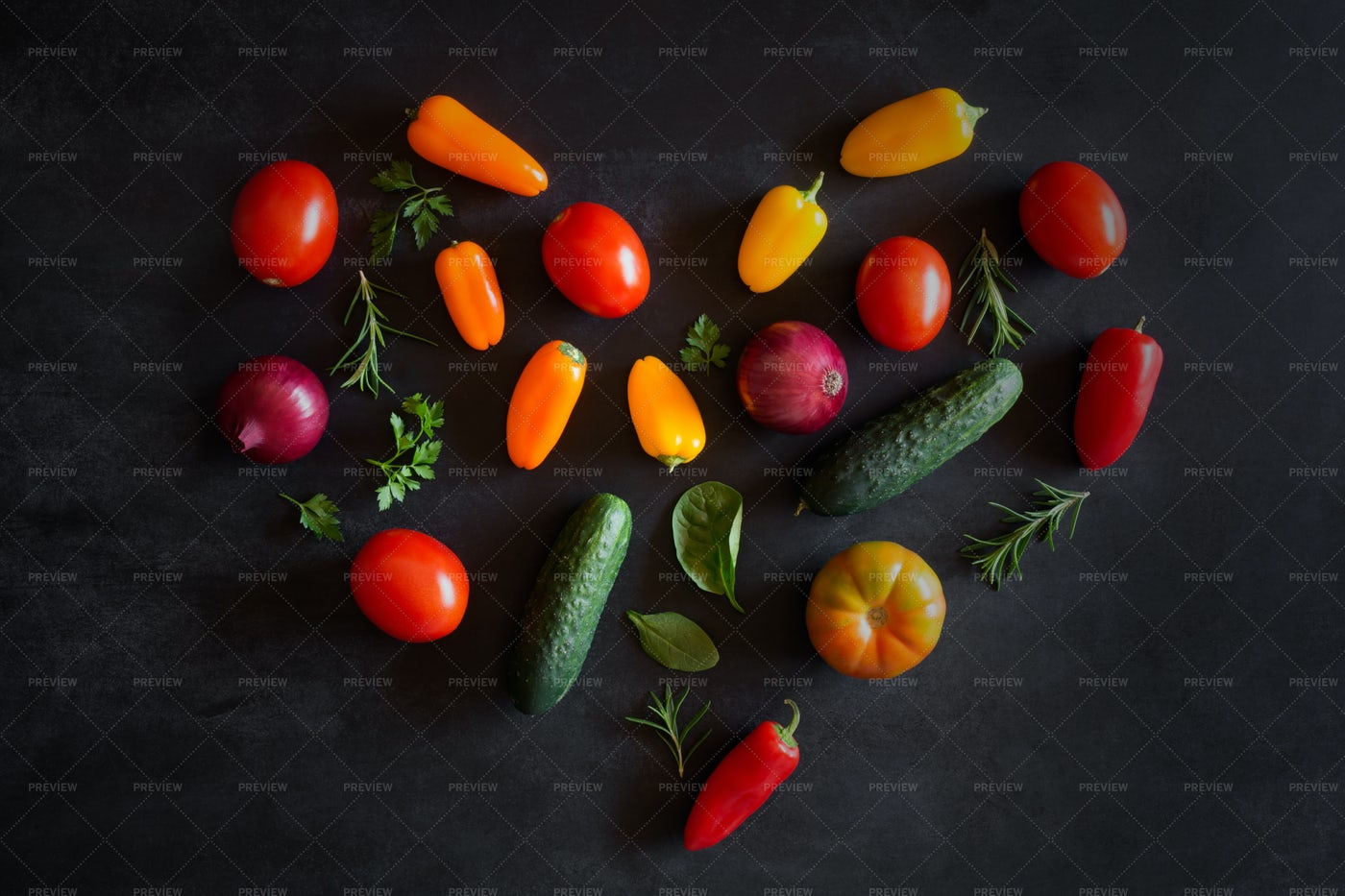 Vegetables In A Heart Shape: Stock Photos