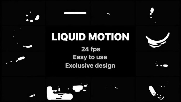 Liquid Motion Shapes Pack : Stock Motion Graphics